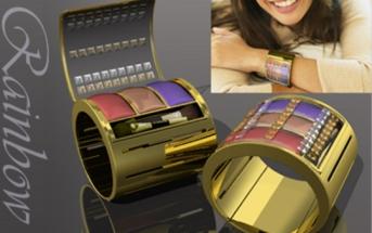 Rainbow makeup bracelet
