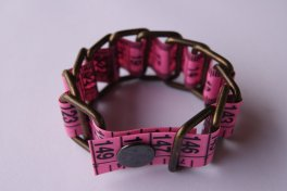 tape measure bracelet pink