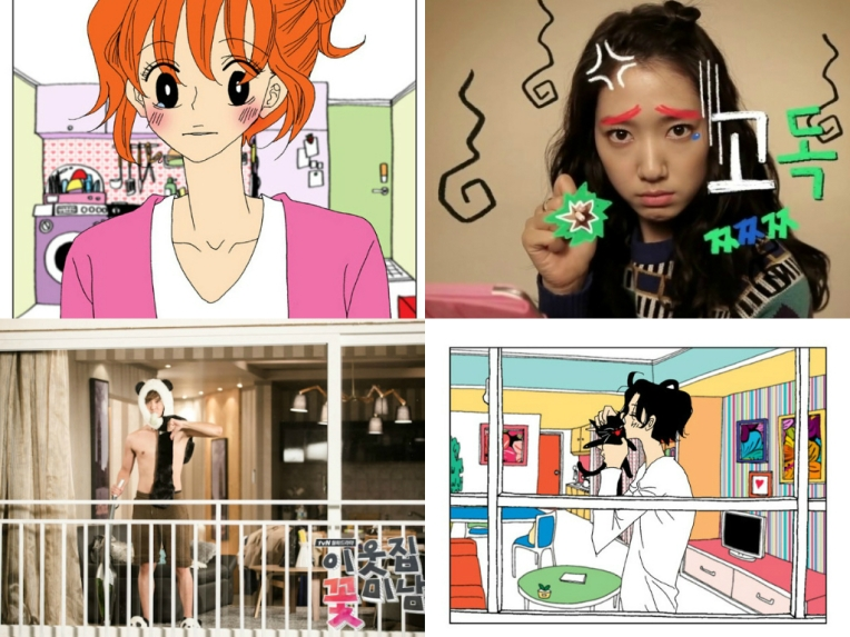 Varias imágenes drama y webtoon