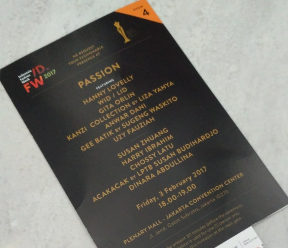Not so fashionable presence at passion fashion show indonesia excited as we see the designer line up in the invitation i mean susan zhuang harry ibrahim chossy latu and dinara abdullina from kazakhstan are in the stopboris Images